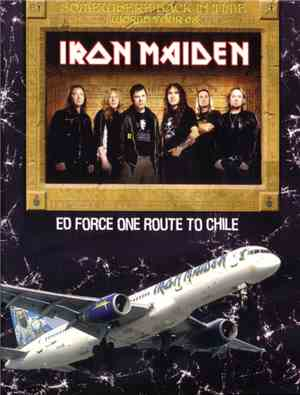 Iron Maiden - Ed Force One Route To Chile